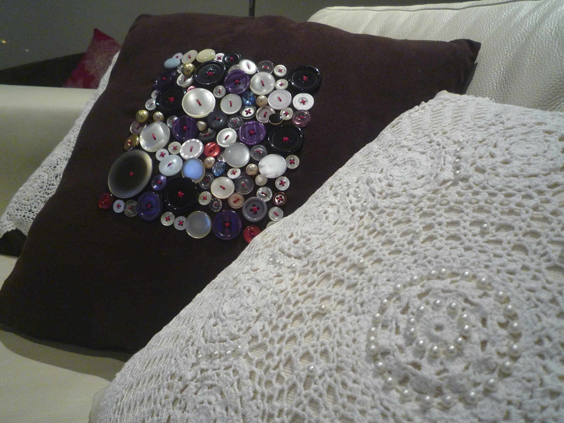 Vintage button cushions