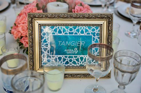 custom wedding design - table markers